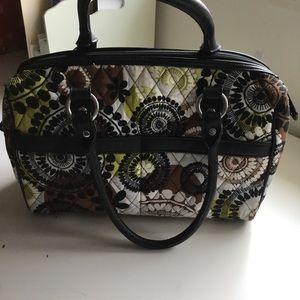 Vera Bradley satchel bag in Cocoa Moss print